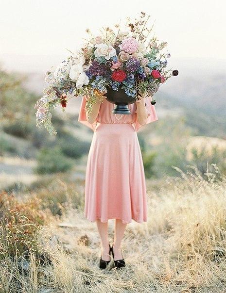flores y chica